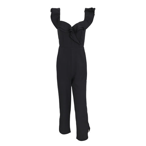 Sexy off shoulder backless jumpsuit