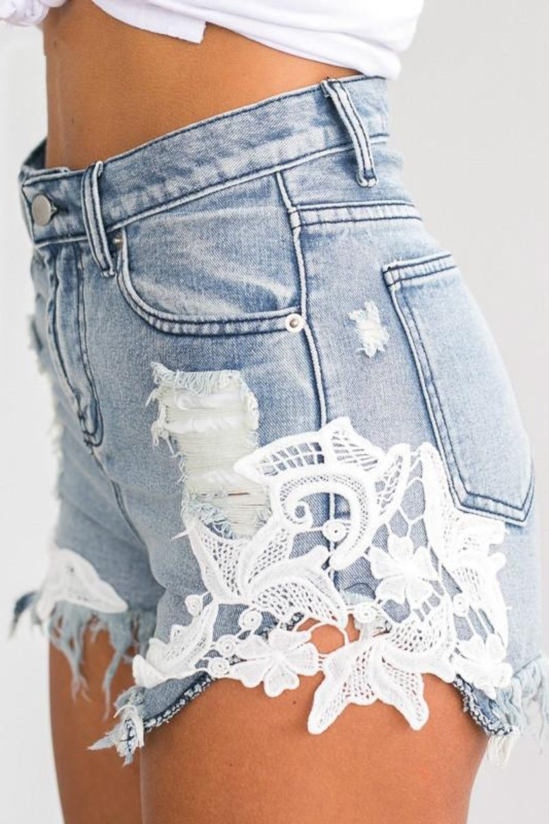 Ripped Pocket Shorts