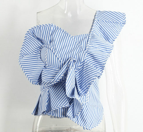 One shoulder blouse shirt