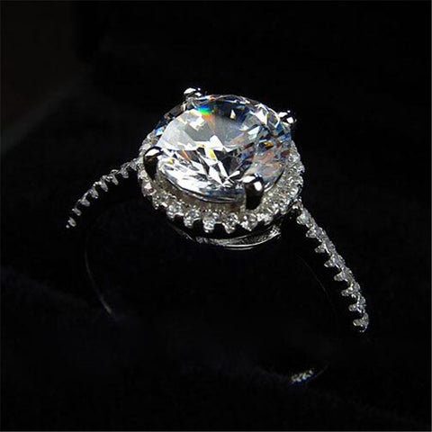 Princess Square Diamond Ring Luxury Elegance Fashion Wedding Ring