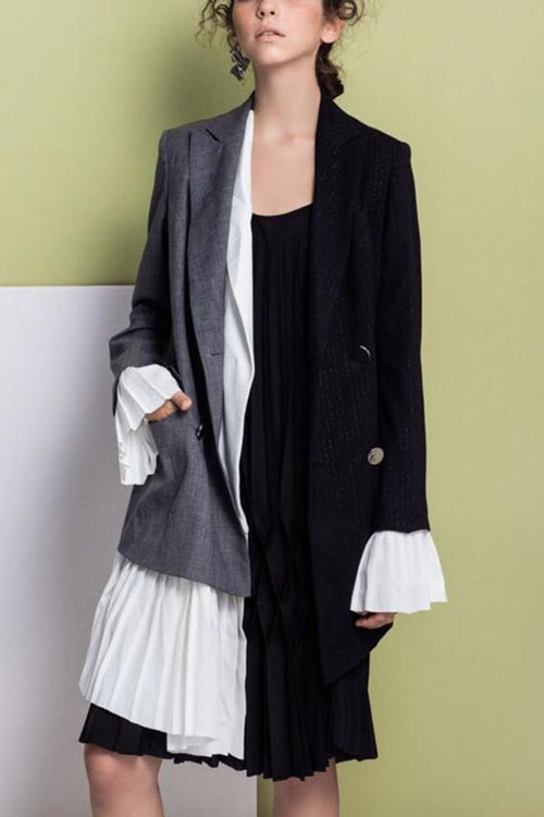 Chiffon Asymmetrical Female Jacket