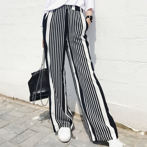 Striped Wide Leg Pant For Women