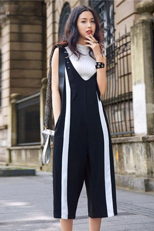 Casual Loose Off Shoulder Jumpsuit