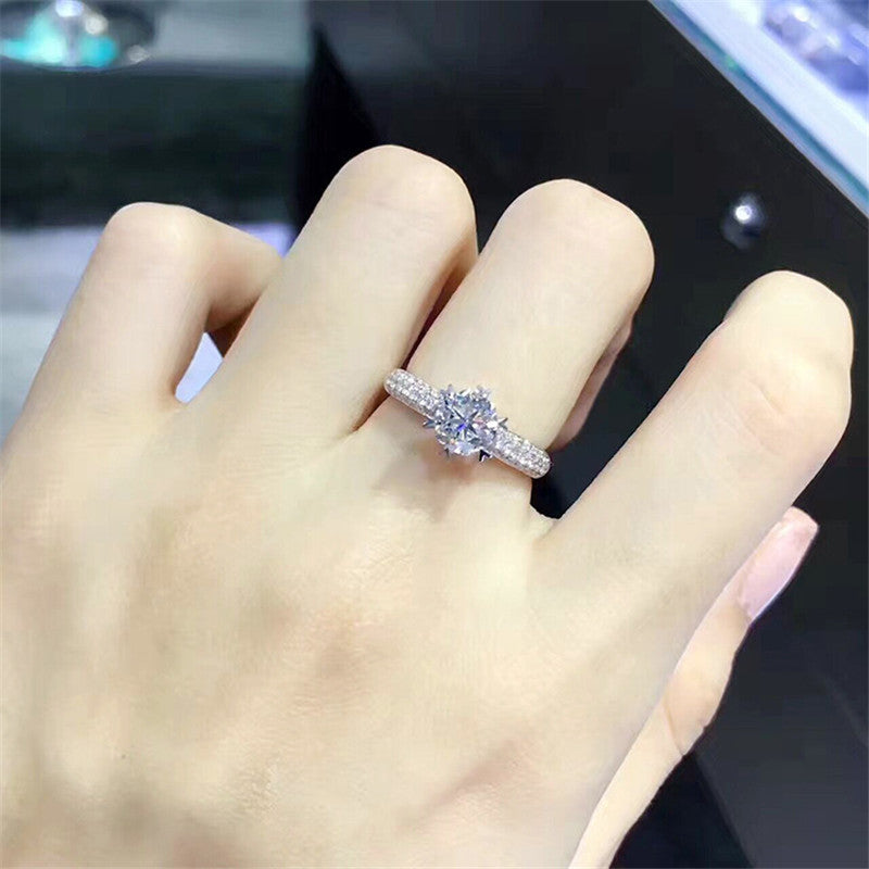 Cubic Zirconia Snowflake Bague Ring