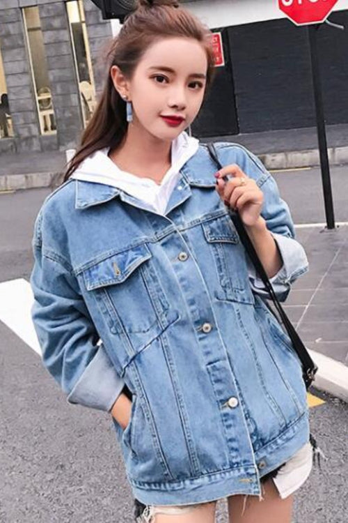 Jeans Jacket Women loose basic coats