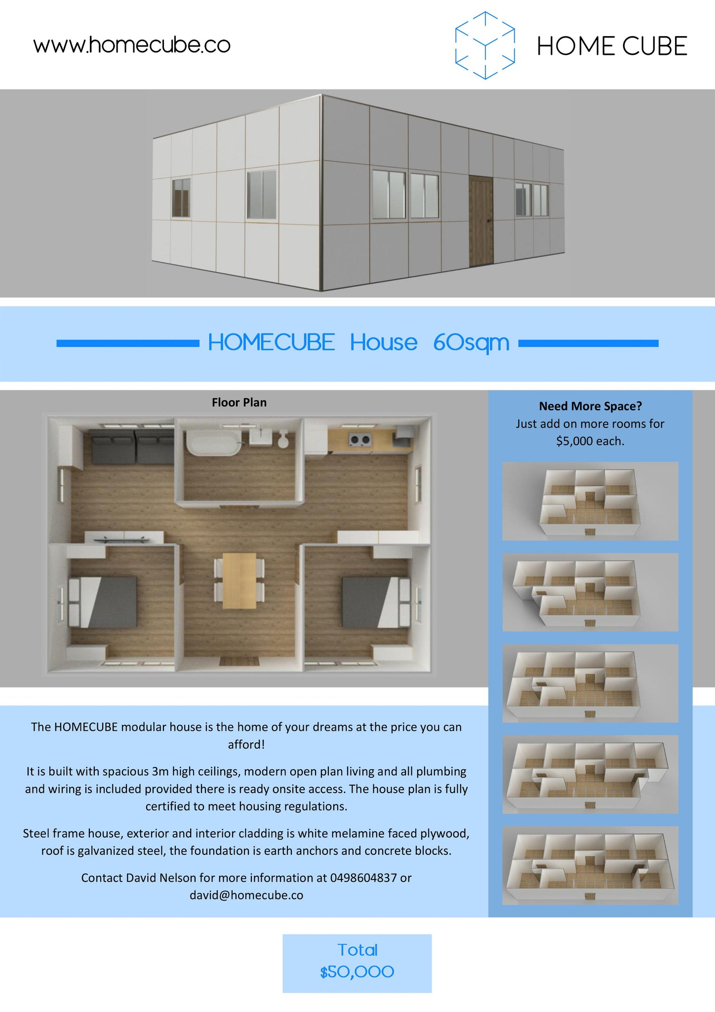 Two Bedroom HOMECUBE House