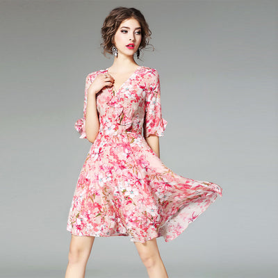 Women's Mulberry Silk Dresses – Fitted And Flare Style