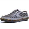 Men's Casual Shoes - Genuine Leather Mesh Loafers