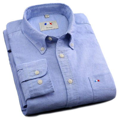 Cotton Oxford Business Shirts for Men