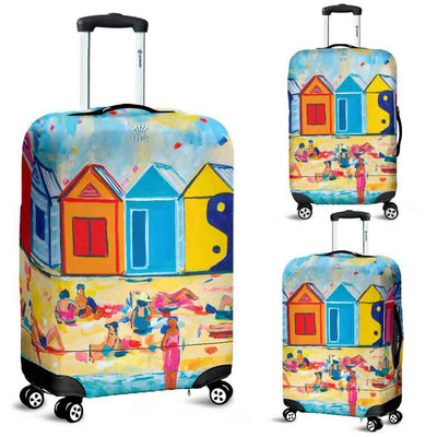 Artistic Printed Luggage Covers – Bathing Box Series 01 - high quality prints by Melbourne-born artist Lois Campbell, well renowned for her bright colors and bold, spontaneous strokes. Unique to MyEmporium.com - a world of style just for you
