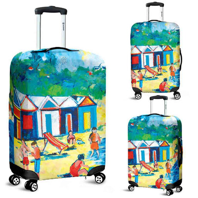 Artistic Printed Luggage Covers – Bathing Box Series 04 - high quality prints by Melbourne-born artist Lois Campbell, well renowned for her bright colors and bold, spontaneous strokes. Unique to MyEmporium.com - a world of style just for you