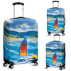 Artistic Printed Luggage Covers – Beaches Series 001-01 - high quality prints by Melbourne-born artist Lois Campbell, well renowned for her bright colors and bold, spontaneous strokes. Unique to MyEmporium.com - a world of style just for you
