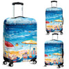 Artistic Printed Luggage Covers – Beaches Series 002 - high quality prints by Melbourne-born artist Lois Campbell, well renowned for her bright colors and bold, spontaneous strokes. Unique to MyEmporium.com - a world of style just for you