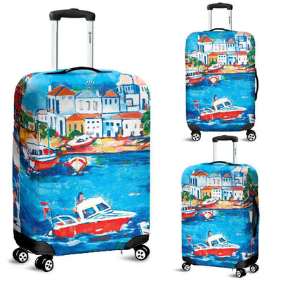 Artistic Printed Luggage Covers – Boating Series 06 - high quality prints by Melbourne-born artist Lois Campbell, well renowned for her bright colors and bold, spontaneous strokes. Unique to MyEmporium.com - a world of style just for you