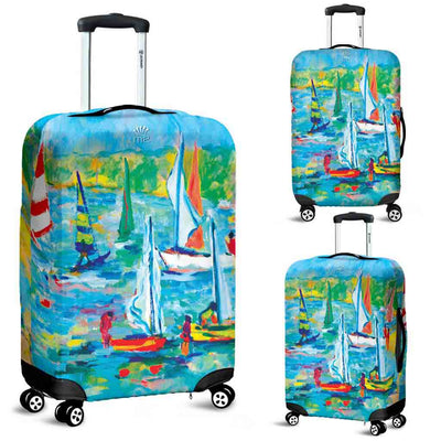 Artistic Printed Luggage Covers – Boating Series 07 - high quality prints by Melbourne-born artist Lois Campbell, well renowned for her bright colors and bold, spontaneous strokes. Unique to MyEmporium.com - a world of style just for you