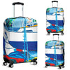 Artistic Printed Luggage Covers – Boating Series 08 - high quality prints by Melbourne-born artist Lois Campbell, well renowned for her bright colors and bold, spontaneous strokes. Unique to MyEmporium.com - a world of style just for you