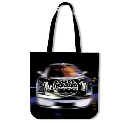 Artistic cotton tote bags – Prestige Cars 02 – Creative Image Series on premium quality printed poly-cotton, eco-friendly, durable, soft and machine-washable tote bags. Only available here at MyEmporium.com - a unique world of style for you
