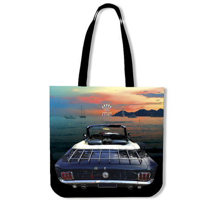 Artistic Printed Tote Bags for Men - Prestige Car Series 5