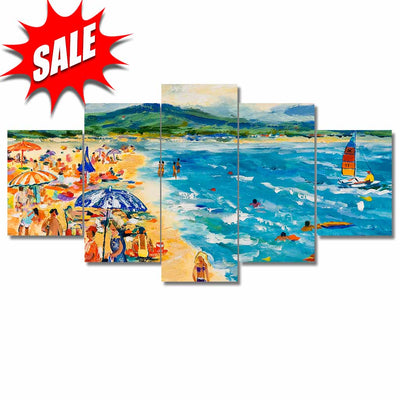 Custom Framed Quality Canvas Prints - Signature Collection - Beach Scenes 5P
