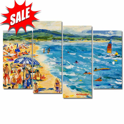 Custom Framed Quality Canvas Prints - Signature Collection - Beach Scenes 4P