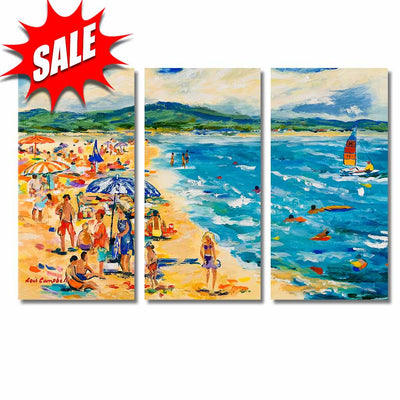 Custom Framed Quality Canvas Prints - Signature Collection - Beach Scenes 3P