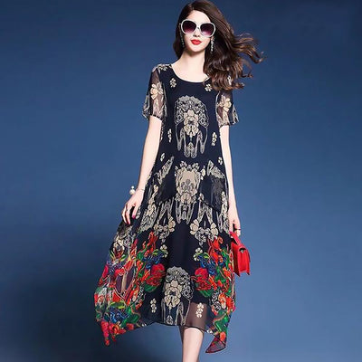 Women's Summer Dresses - Elegant, Long Floral Prints