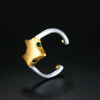 Women's Gold & Silver Charm Ring