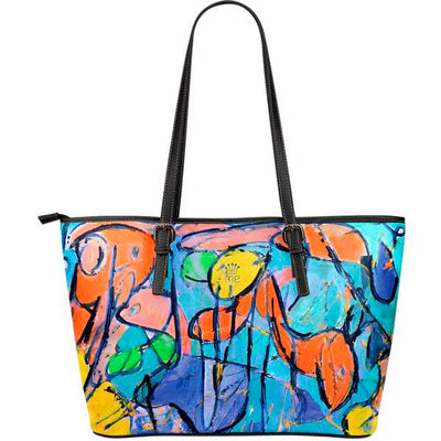 Artistic leather tote bags – Abstract Series 03 - high quality prints by Melbourne-born artist Lois Campbell, well renowned for her bright colors and bold, spontaneous strokes. Only available here at MyEmporium.com - a unique world of style for you