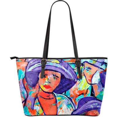 Artistic leather tote bags – Horse Racing Series 04 - high quality prints by Melbourne-born artist Lois Campbell, well renowned for her bright colors and bold, spontaneous strokes. Only available here at MyEmporium.com - a unique world of style for you