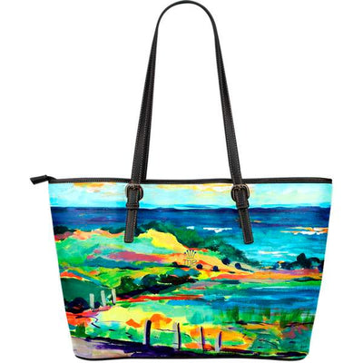 Artistic leather tote bags – Landscape Series 03 - high quality prints by Melbourne-born artist Lois Campbell, well renowned for her bright colors and bold, spontaneous strokes. Only available here at MyEmporium.com - a unique world of style for you