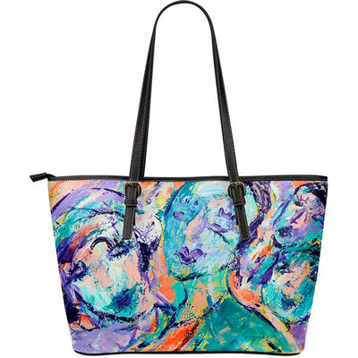 Artistic Printed Leather Tote Bags– Fashion Series 01 - high quality prints by Melbourne-born artist Lois Campbell, well renowned for her bright colors and bold, spontaneous strokes. Unique to MyEmporium.com - a world of style just for you