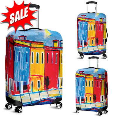 Artistic Printed Luggage Covers – Boating Series 04 - high quality prints by Melbourne-born artist Lois Campbell, well renowned for her bright colors and bold, spontaneous strokes. Unique to MyEmporium.com - a world of style just for you