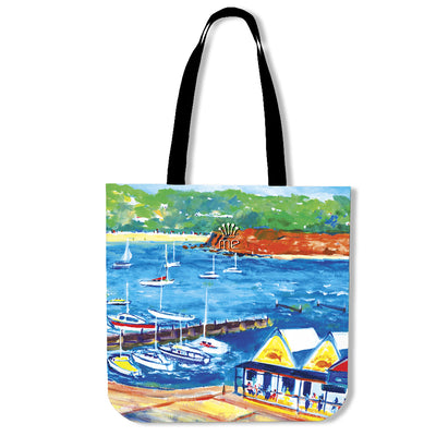 Poly-Cotton Tote Bags for Men - Boating Series - Lois Campbell-03
