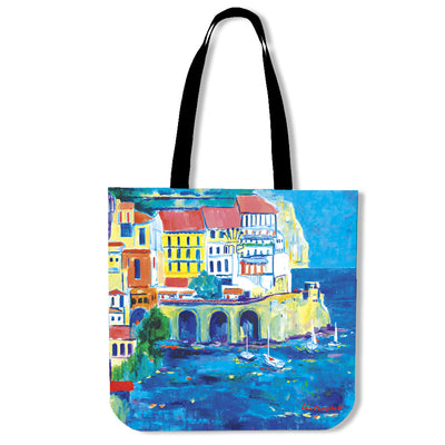 Artistic cotton tote bags – Boating Series 05 - high quality prints by Melbourne-born artist Lois Campbell, well renowned for her bright colors and bold, spontaneous strokes. Only available here at MyEmporium.com - a unique world of style for you