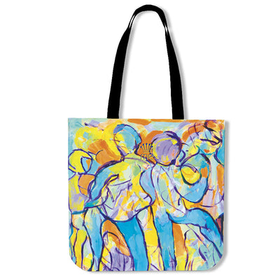Artistic cotton tote bags – Party Series 02 - high quality prints by Melbourne-born artist Lois Campbell, well renowned for her bright colors and bold, spontaneous strokes. Only available here at MyEmporium.com - a unique world of style for you