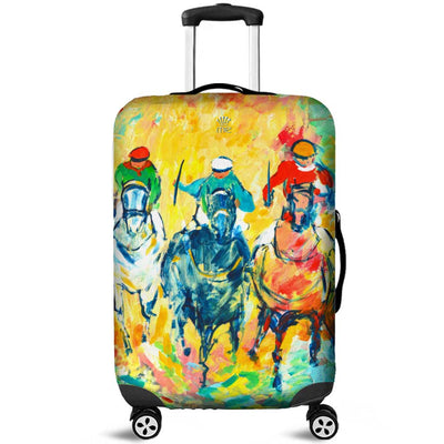 Artistic Printed Luggage Covers – Horse Racing Series 02 - high quality prints by Melbourne-born artist Lois Campbell, well renowned for her bright colors and bold, spontaneous strokes. Unique to MyEmporium.com - a world of style just for you