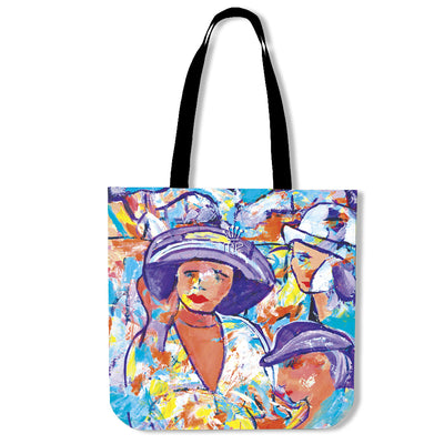 Artistic cotton tote bags – Horse Racing Series 04 - high quality prints by Melbourne-born artist Lois Campbell, well renowned for her bright colors and bold, spontaneous strokes. Only available here at MyEmporium.com - a unique world of style for you