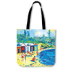 Artistic cotton tote bags – Bathing Box Series 02 - high quality prints by Melbourne-born artist Lois Campbell, well renowned for her bright colors and bold, spontaneous strokes. Only available here at MyEmporium.com - a unique world of style for you