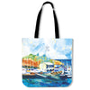 Artistic cotton tote bags – Boating Series 02 - high quality prints by Melbourne-born artist Lois Campbell, well renowned for her bright colors and bold, spontaneous strokes. Only available here at MyEmporium.com - a unique world of style for you