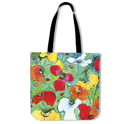 Artistic cotton tote bags – Flowers Series 01 - high quality prints by Melbourne-born artist Lois Campbell, well renowned for her bright colors and bold, spontaneous strokes. Only available here at MyEmporium.com - a unique world of style for you
