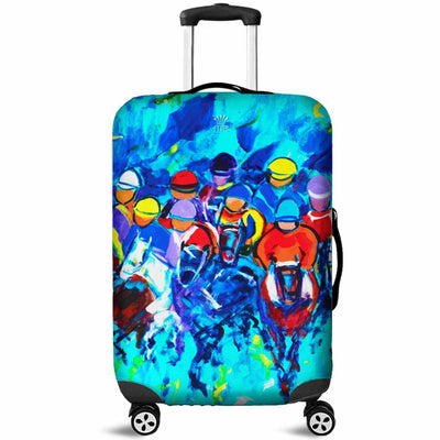 Artistic Printed Luggage Covers – Horse Racing Series 01 - high quality prints by Melbourne-born artist Lois Campbell, well renowned for her bright colors and bold, spontaneous strokes. Unique to MyEmporium.com - a world of style just for you