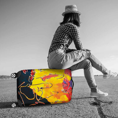 Artistic Printed Luggage Covers – Abstract Series 02 - high quality prints by Melbourne-born artist Lois Campbell, well renowned for her bright colors and bold, spontaneous strokes. Unique to MyEmporium.com - a world of style just for you
