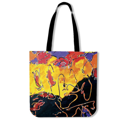 Artistic cotton tote bags – Abstract Series 02 - high quality prints by Melbourne-born artist Lois Campbell, well renowned for her bright colors and bold, spontaneous strokes. Only available here at MyEmporium.com - a unique world of style for you