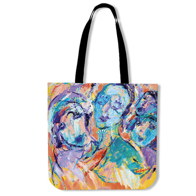Artistic cotton tote bags – Fashion Series 02 - high quality prints by Melbourne-born artist Lois Campbell, well renowned for her bright colors and bold, spontaneous strokes. Only available here at MyEmporium.com - a unique world of style for you