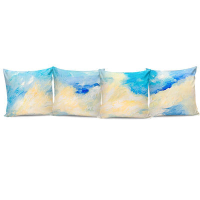 Complete Set of Premium Pillow Cushion Covers - Clouds