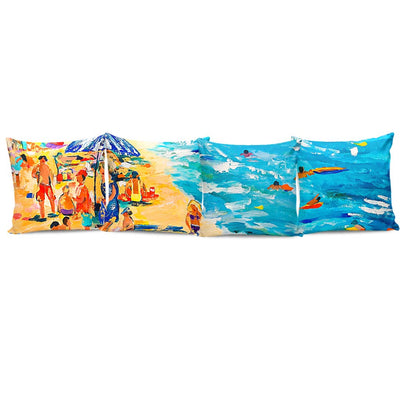 Complete Set of Premium Pillow Cushion Covers - Beach