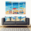 Beach Holiday - Colorful Artistic Framed Quality Canvas Prints - Signature Collection 04