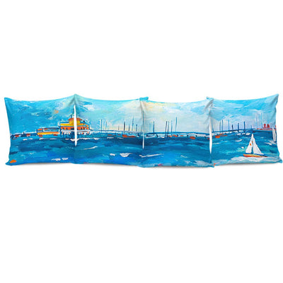Complete Set of Premium Pillow Cushion Covers - Beach 03