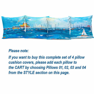 Premium Pillow Cushion Covers - Beach