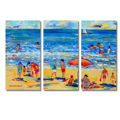 A Day on The Beach - Colorful Artistic Framed Quality Canvas Prints - Signature Collection 01